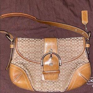 Coach Hampton buckle handbag